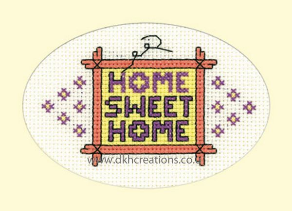 Home Sweet Home Card Cross Stitch Kit